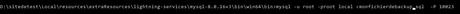 import large database in mysql windows 10