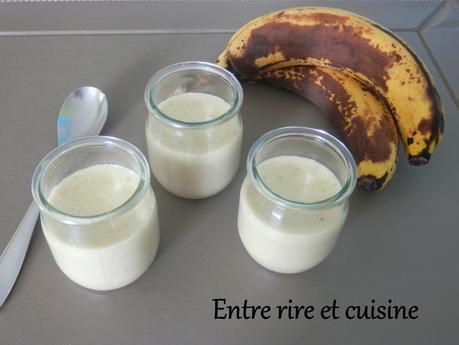 Crème à la banane (sans oeuf)