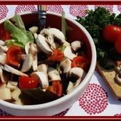 Salade de Champignons au gruyère - Oh, la gourmande..