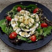 Salade de Delphine (champignons crus-fromage) - La tendresse en cuisine