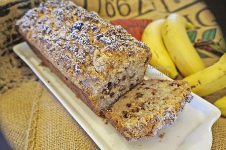 Cake croustillant, banane et chocolat (Christophe Michalak) #restez à la maison
