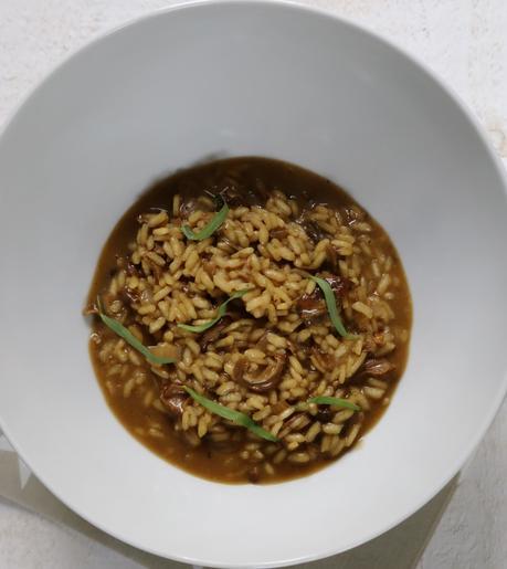 Champignons séchés , risotto crémeux , facile
