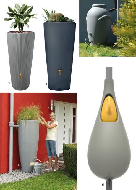 récupérateur eau pluie design jardin robinet pratique - blog déco