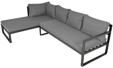 vente privée canapé jardin extérieur gris design moderne industriel confortable