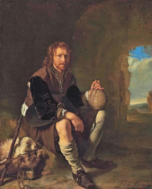 van Mieris Frans (I) 1655-57 The A resting traveller Leiden Collection