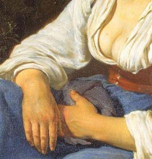 van Mieris Frans (I) 1655-57 The broken egg Ermitage detail