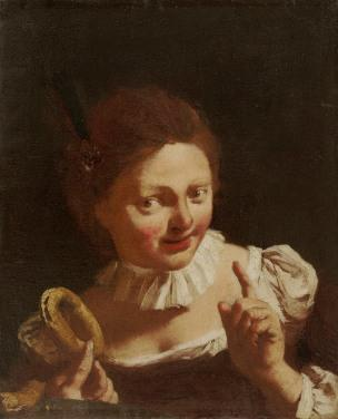 Piazzetta 1740 ca Girl with a ring biscuit wadsworth atheneum Hartford
