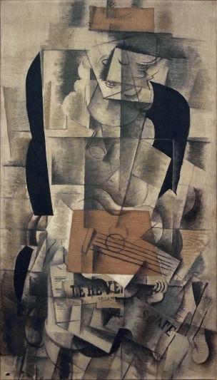 Georges_Braque,_1913 octobre ,_Femme_a_laguitare Centre_Pompidou