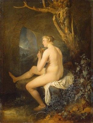 Dou 1660-65 Woman_bather_combing_her_hair Ermitage