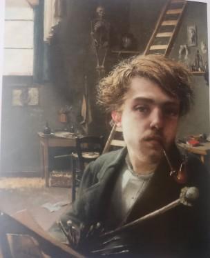 Ieon Frederic Le peintre et son modele 1882 A.