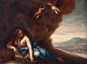 Cano Madeleine penitente dans le desert, coll priv 71 x 93 cm