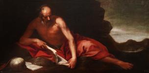 Cano vers 1653 St Jerome dans le desert, Prado 104 x 205 cm