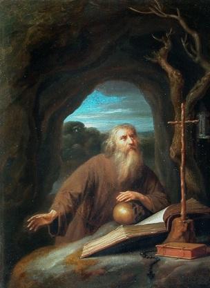 van_Slingelandt 1657 Saint_Jerome_en_priere_dans_une_grotte_Louvre