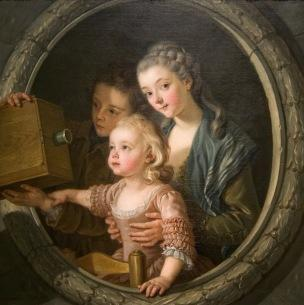 Van Loo (Charles Amedee Philippe) La lanterne magique 1764 National Gallery of Arts Wahington