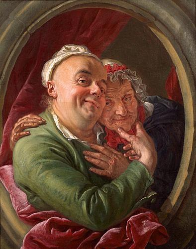 Van Loo (Charles Amedee Philippe) L'artiste et sa mère 1763 Coll particuliere