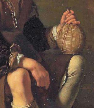 van Mieris Frans (I) 1655-57 The A resting traveller Leiden Collection detail