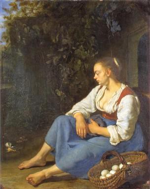 van Mieris Frans (I) 1655-57 The broken egg Ermitage