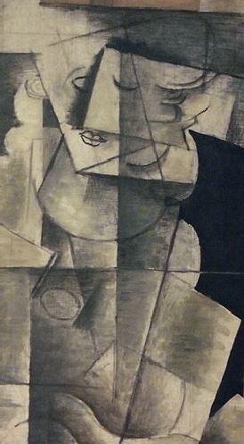Georges_Braque,_1913 octobre ,_Femme_a_laguitare Centre_Pompidou detail