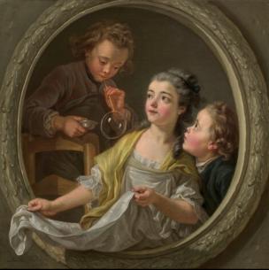 Van Loo (Charles Amedee Philippe) Les bulles de savon 1764 National Gallery of Arts Wahington