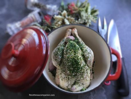 Poulet rôti en cocotte au four