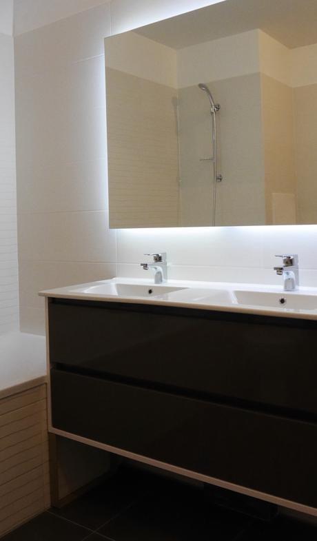 idylle salle de bain noir blanche beige moderne cogedim