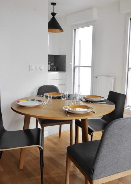 table ronde rallonge habitat appartement rueil moderne idylle