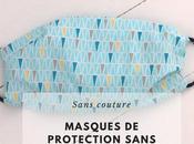 DIYs pour fabriquer masque protection visage sans couture