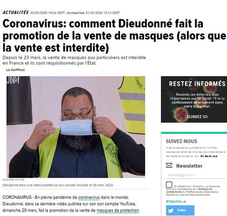 Dieudonné et son ignoble escroquerie au #covid19