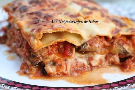 Lasagnes thon - aubergine