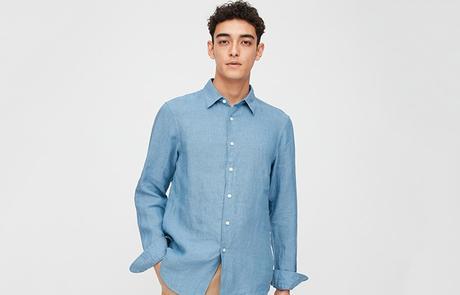 Chemise en lin pour homme - Uniqlo
