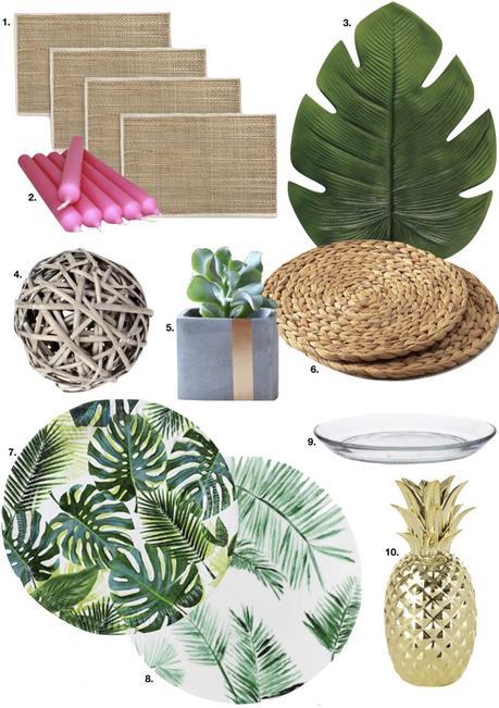 table style jungle rustique assiette pot béton set table tropicale - blog déco - clem around the corner