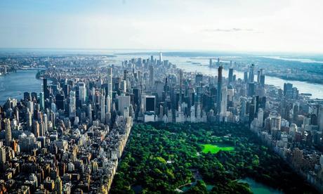 Vue en hélicoptère de New York