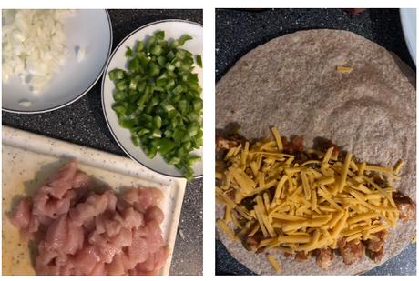 Quesadillas au poulet et cheddar
