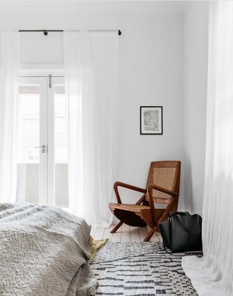 visite privée déco inspiration chambre chaise cannage