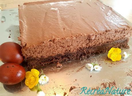 Cheesecake sans Cuisson au Chocolat Noir