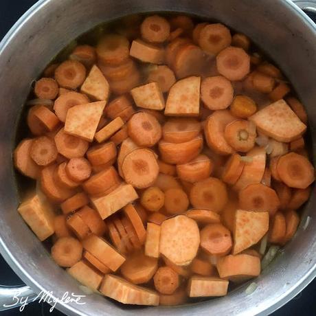 Soupe Patate Douce Carotte Lait de Coco