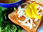 Grilled cheese saucisses Gusta avec jaune d'oeuf végétal