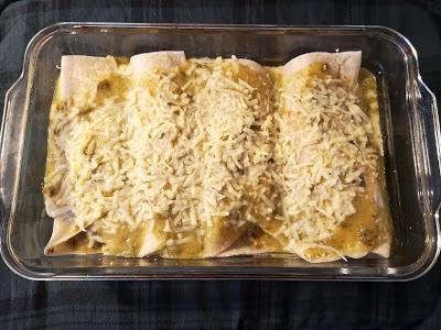 Enchiladas sauce verte