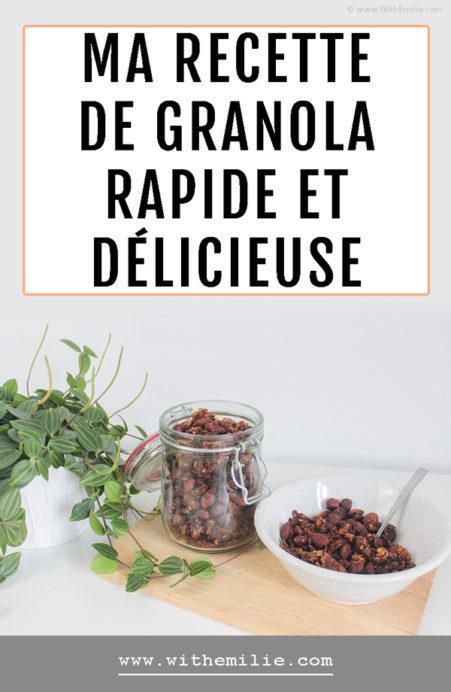 Ma recette de granola WithEmilieBlog Pinterest