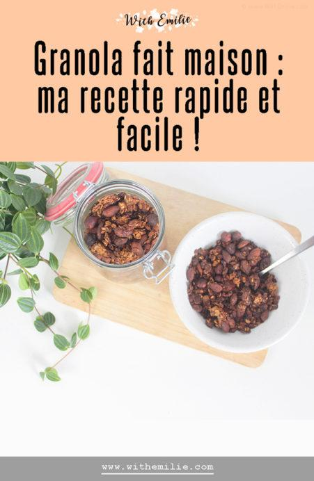 Ma recette de granola WithEmilieBlog Pinterest V2