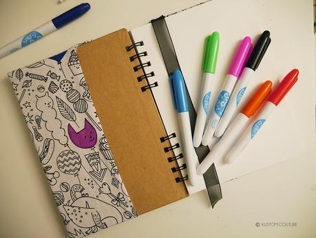 Coudre un protège-carnet en tissu à colorier   Kustom Couture