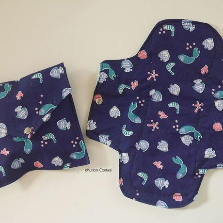 Coudre une serviette hygiènique lavable et sa pochette de rangement   Kustom Couture