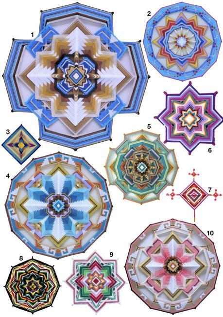 ojos de dios décoration origine mexique tissage - blog déco - clem around the corner