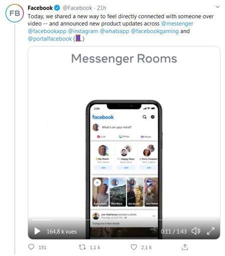 Messenger Rooms, un nouveau concurrent de Zoom ?
