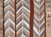"""Focus peinture aborigène écorce l'ancêtre """"Serpent arc-en-ciel"""" célébré Paul Nabulumo NAMARINJMAK"""