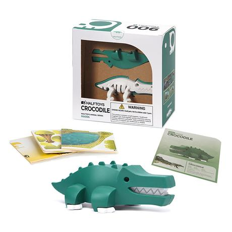 Half Toys Puzzle 3D Elephant Crocodile
