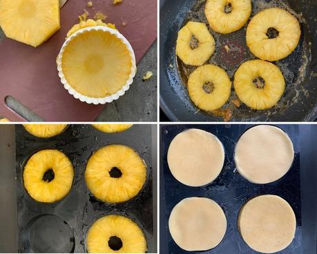 Tartelettes tatin à l'ananas caramélisé