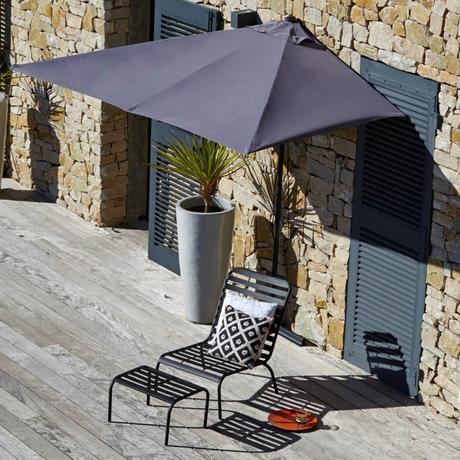 balcon filant demi parasol terrasse - blog déco - clemaroundthecorner