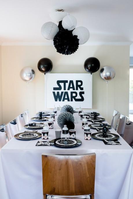 déco table à manger repas goûter anniversaire original star wars