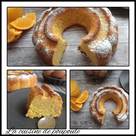 Gâteau à l'orange et au blanc d'œuf